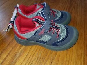 New Boys Oshkosh B'Gosh Shoes Washable Gray Green Blue Red 5 6 7 8 9 10 11