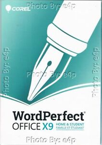 COREL WORDPERFECT OFFICE X9 HOME & STUDENT QUARTRO PRO BRAND NEW FACTORY SEALED!