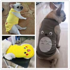 Cat Dog Shirt Small Medium Pet Clothes Summer Puppy Vest Apparel for Bulldog