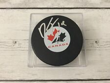 Dylan Strome Signed Team Canada Hockey Puck Autographed Go Coyotes a