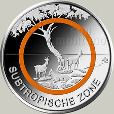SUBTROPICAL ZONE - Climate Zones Coin Series - 2018 Germany 5 EURO Polymer Ring