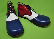 ZYKO Professional Real Leather Clown Shoes Chaplin Tricolor model (ZH006)