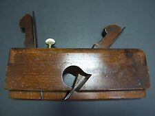 """Wooden 7/8"""" dado plane vintage old tool by S Lunt"""