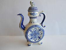 Gzhel Handpainted Porcelain Pitcher by Sergei Simonov Tea Kvass Jug