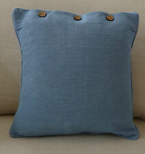 """SCATTER CUSHION COVER 40 x 40 """"DUSK  BLUE"""" THROW PILLOW CASE, COUCH, BED"""