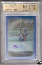 BGS 9.5 06 Bowman BLUE REF AUTO Brandon Marshall RC /75