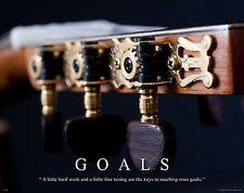 Musical Instruments Motivational Poster Art Print Guitar Band Sheet Music MVP226