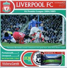 Liverpool 2004-05 Portsmouth (Morientes) Football Stamp Victory Card #428