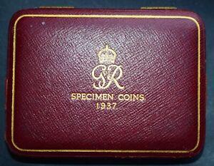 1937 SPECIMEN COIN CASE FOR THE 4 GOLD SET.
