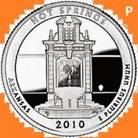 2010 P Quarter HOT SPRINGS AK NATIONAL PARK ATB Philadelphia  ~ UNC 2nd