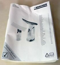 Karcher WV2 / WV2 Plus Window Vac Cleaner Replacement User Guide Manual