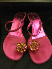Vicini Giuseppe Zanotti from Russell & Bromley pink satin shoes with gems 36 UK3