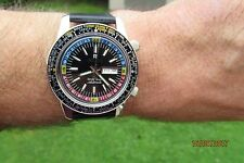 VINTAGE RICOH WORLD TIMER  AUTOMATIC GOOD DESIGN DAY/DATE 45MM MINT 21JEWELS VGC