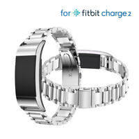 For Fitbit Charge 2 Replacement Wristband Strap Band Metal Wrist Bracelet Silver