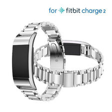 Silver Stainless Steel Metal band Wrist Watch Strap Bracelet For Fitbit Charge 2