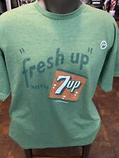Mens Fresh up with 7&up Logo Green T shirt Graphic size XL  Short Sleeve