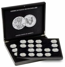 Coin Presentation Display Case American US Silver Eagles Lighthouse +EXTRA TRAY