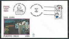 1984 VATICANO VIAGGI DEL PAPA SANTO USA PUERTO RICO  - SV
