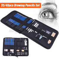 35/48pcs Professional Drawing Artist Kit Set Pencils & Sketch Charcoal Art Tools
