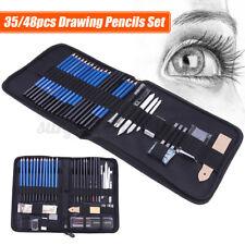 35/48pcs Professional Drawing Artist Kit Set Pencils & Sketch Charcoal Art Tools