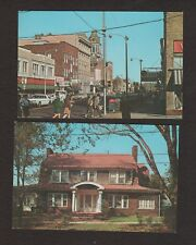 2 Vintage Postcards - Indiana, PA - Philadelphia Street & Jimmy Stewart Home