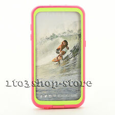 LifeProof fre Waterproof Water Dust Proof Case Samsung Galaxy S7 Pink/Lime Used