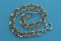 Vintage sterling silver 1950's 1960's DOUBLE LINK CHARM bracelet FOR CHARMS NEW