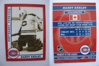 2015 SCA Randy Exelby Montreal Canadiens goalie never issued produced #d/10