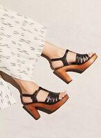 Free People Jeffrey Campbell Haven Clog 7.5 Women Black Leather Sandal $145 L2