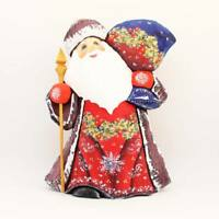 Russian Ded Moroz Father Frost Santa Figurine Carved wood Christmas #40