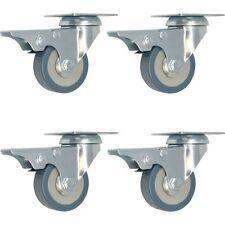 "4 Pack 2-Inch Swivel Lock Brake Plate Caster (2"" with brake)"