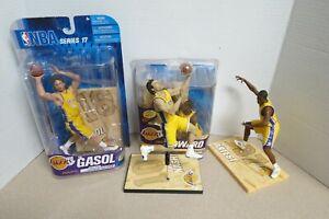 McFarlane Lakers Lot: Howard, Gasol, Nash and Artest (4) NBA Action Figures
