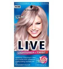 Schwarzkopf Live Lightener and Twist 104 Cool Lilac Long Last Hair Colour Dye X1
