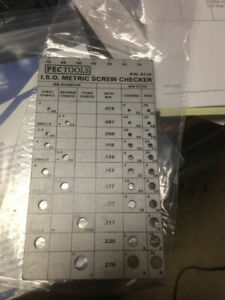 METRIC SCREW CHECKER GAGE 2MM TO 7MM