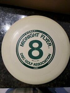 Vintage Rare Disc Golf Association Midnight Flyer Frisbee Wham-O 1980 Glow 8