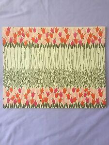 Vintage Hallmark Paper Placemats Set of 8 Floral Tulip Spring Easter Pink Green