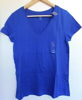 NWT GAP Women's Favorite V-Neck T-Shirt Neptune Blue Sizes XS S M XL NEW