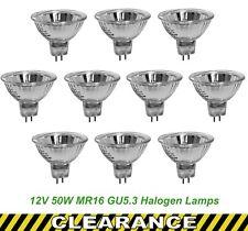 10 x 12V 50W MR16 Gu5.3 Halogen Light Lamp Globes Bulbs 25 Degree Dimmable EXZ