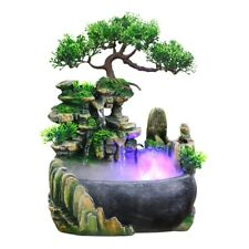 Rockery Water Fountain Desktop Chinese Fengshui Ornament Waterfall Indoor Decor