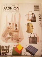 McCall's Fashion Accessories - sewing pattern #9261 Purse bag  back pack