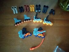 10 Pairs of Action Man / GI Joe Footwear Boots Roller Blades Rocket Boots