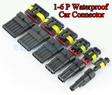 23456 Pin Way Sealed Waterproof Electrical Wire Connector Plug Car Auto Kit