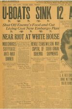 More details for suffrage anti-war banner white house mob charges protesters june 20 1917 b24
