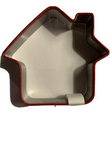 """Threshold Gingerbread House Cookie Cutter Coated Edge 3.5"""" x 4"""" Holiday"""