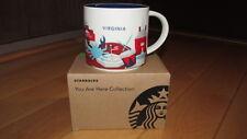 "Brand New Starbucks Virginia ""You Are Here"" Collection 14 oz. Coffee Mug"