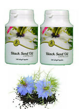 2 Pack Of Black Seed Oil 100 Capsules - A Wonderful Food Supplement