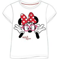 Girl's Disney MINNIE MOUSE Short-Sleeved WHITE T-Shirt/Top - NWT - 2-10 years