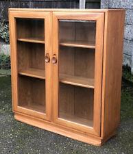 SUPERB RETRO WINDSOR  ERCOL  2 DOOR GLAZED BOOKCASE/CABINET VERY CLEAN