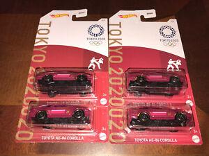 2020 Hot Wheels -TOKYO 2020 -Toyota AE-86 Corolla 2021 Lot Of 4 VHTF RARE
