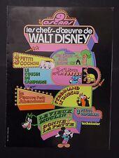 LES CHEFS D'OEUVRE DE WALT DISNEY 1966 pressbook film cinéma